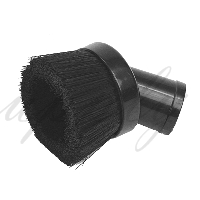 Flexaust 803BLK Black Polypropylene Plastic Industrial Central Vacuum Cleaning Tool 1-1/4 Inch, 32 mm Inch hose by 3 Inches Round Dusting Brushes