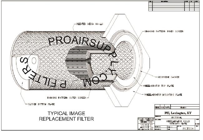 668621 filter wheelabrator filter from proair