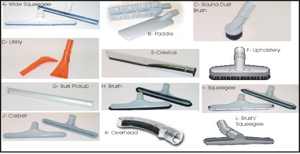 Vacuum Hose and Tools